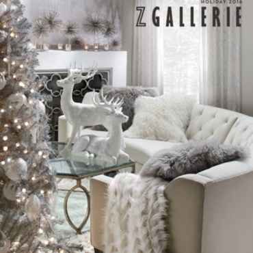 Z GALLERIE HOLIDAY DECOR TRENDS